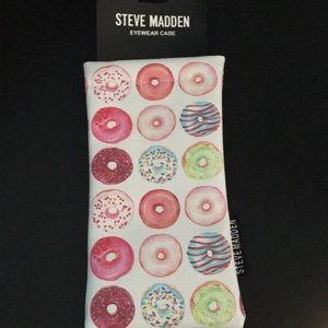 NEW Steve Madden DONUTS Themed Eyeglass Case